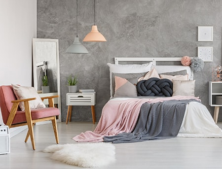HOME-DZINE | Headboard Ideas - This pallet wood or pine headboard is so easy to make, you can easy make your own headboard in a day. We used pine PAR for this project, but you can easily substitute with pallet wood.