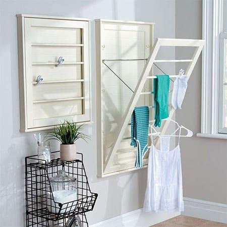 adjustable wall mounted washing drying rack