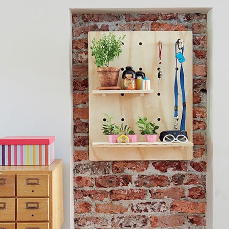 make a diy pegboard for a wall