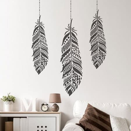 HOME-DZINE | Stencils - Mandala stencils are oh so trendy for today's interiors and there are various designs that can be used as a wall stencil, or to dress up a piece of furniture. Be creative: use different colour combinations - possibilities are endless.