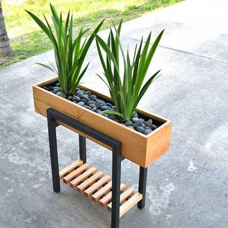 diy modern plant stand
