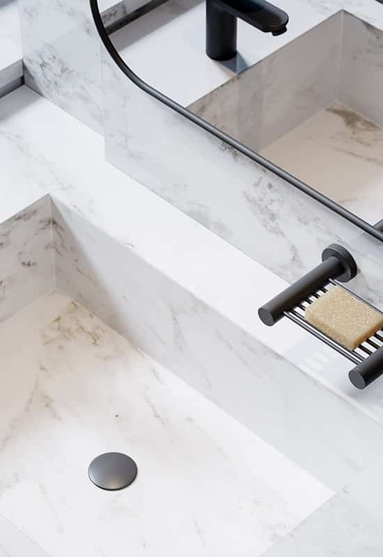 Let's face it: nothing gives your bathroom that truly chic aesthetic like unique fittings and accessories.  A blissful, stylish bathroom is the heart of the home, so we've featured some of our favourite luxurious and trendy pieces to help you kit it out and infuse some serious style into your space. #designmindsouthafrica #designmind #homedecor #homedesign #homeinspiration #decorideas #homeideas #interiordesign #interiors #interior #bathroom #bathroomdesign #bathroomaccessories #bathroomremodel #bathroominspo #bathroominspiration #tap #shower #rail #basin #bath