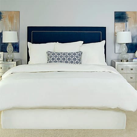 easy upholstered headboard ideas nailhead trim modern contemporary