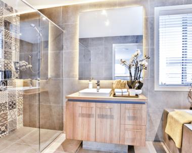 Mixing textures in your bathroom